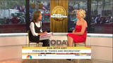 Amy Poehler Red Strapless Dress and Cakefight on The Today Show 9/16/09 - HDTV 1080i