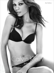 Zoe Saldana sexy Calvin Klein lingerie