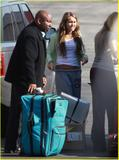 *ADDS*Miley Cyrus - Boarding a private jet at the Burbank Airport, December 20, 2008