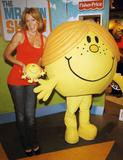 Nell McAndrew poses with Little Miss Sunshine at a photocall, London - October 30, 2008