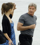 MARIA MENOUNOS ~ Interviews Harrison Ford at the beach in Cannes ~ 05/16 ~ 2 HQ